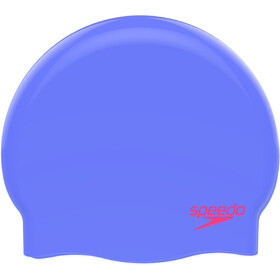 speedo Plain Moulded Silicone Cap Kids purple/red